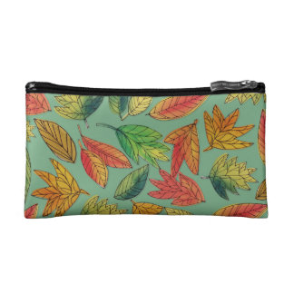 Fall Foliage Watercolor Pattern Bag コスメティックバッグ