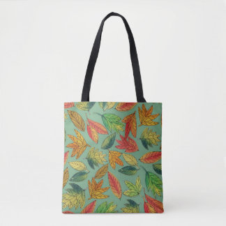 Fall Foliage Watercolor Pattern Tote トートバッグ