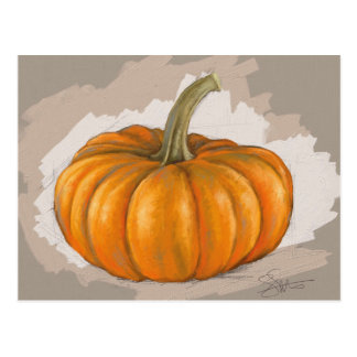 Fall Pumpkin Postcard - Original Art ポストカード