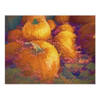 Fall Pumpkins Postcard ポストカード