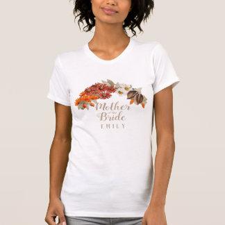 Fall Wedding Wreath Orange M of the Bride ID465 Tシャツ
