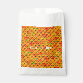 Fallnのオレンジおよび緑のスケール フェイバーバッグ