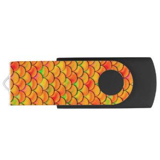 Fallnのオレンジおよび緑のスケール USBフラッシュドライブ