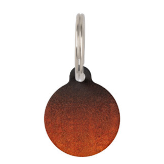 Fallnのオレンジ及び黒いグリッターの勾配 ペット ネームタグ