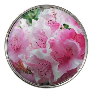 Fallnのピンクの花の花 ゴルフボールマーカー