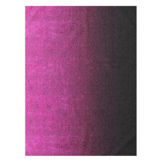 Fallnのピンク及び黒のグリッターの勾配 テーブルクロス