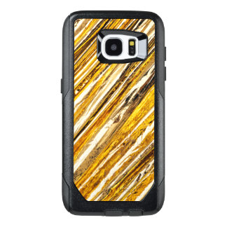 Fallnの揺らめく金ゴールドホイル オッターボックスSamsung Galaxy S7 Edgeケース