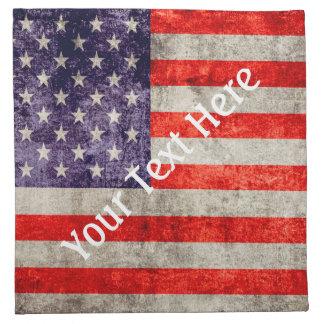 Fallnの旧式な米国旗 ナプキンクロス
