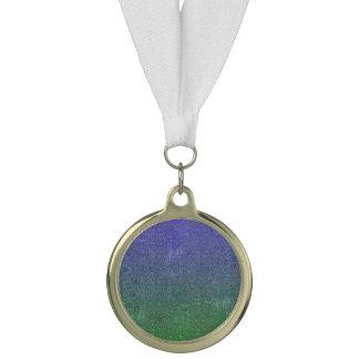Fallnの森林日暮れのグリッターの勾配 メダル
