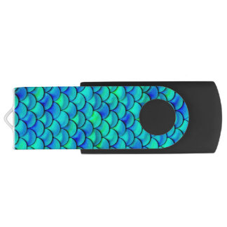 Fallnの水の青のスケール USBフラッシュドライブ