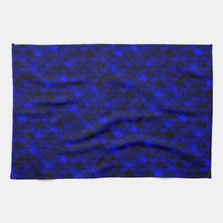 Fallnの濃紺の人魚のスケール キッチンタオル