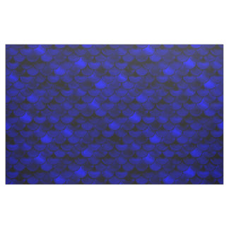 Fallnの濃紺の人魚のスケール ファブリック