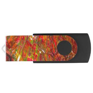 Fallnの熱帯日没Ammolite USBフラッシュドライブ