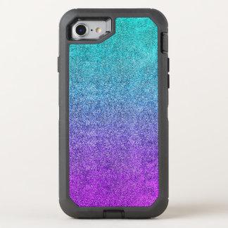 Fallnの熱帯薄暗がりのグリッターの勾配 オッターボックスディフェンダーiPhone 8/7 ケース