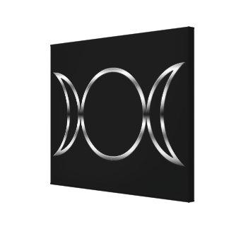 Fallnの異教のな三重の女神の記号 キャンバスプリント