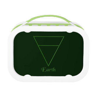 Fallnの異教のな地球の要素の記号 ランチボックス