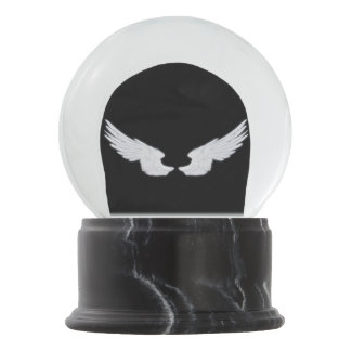 Fallnの白い天使の翼 スノーグローブ