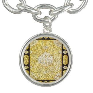 Fallnの神聖な金ゴールド チャームブレスレット