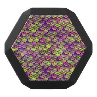 Fallnの紫色および緑のスケール ブラックBluetoothスピーカー