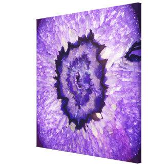 Fallnの紫色の瑪瑙Geode キャンバスプリント