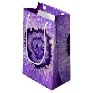 Fallnの紫色の瑪瑙Geode スモールペーパーバッグ