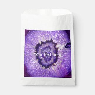 Fallnの紫色の瑪瑙Geode フェイバーバッグ