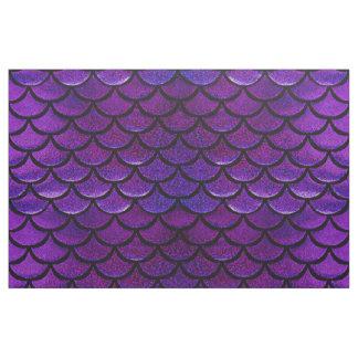 Fallnの紫色及び青の人魚のスケール ファブリック