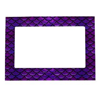 Fallnの紫色及び青の人魚のスケール マグネットフレーム