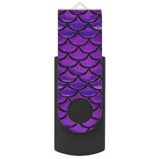 Fallnの紫色及び青の人魚のスケール USBフラッシュドライブ