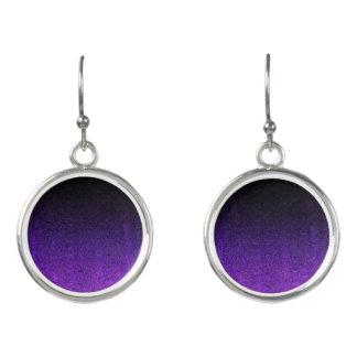 Fallnの紫色及び黒いグリッターの勾配 イヤリング