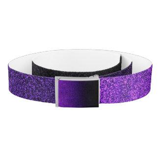 Fallnの紫色及び黒いグリッターの勾配 ベルト