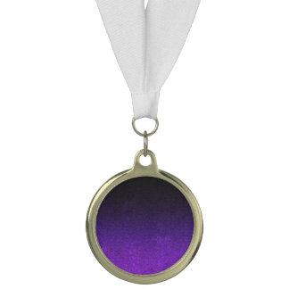 Fallnの紫色及び黒いグリッターの勾配 メダル