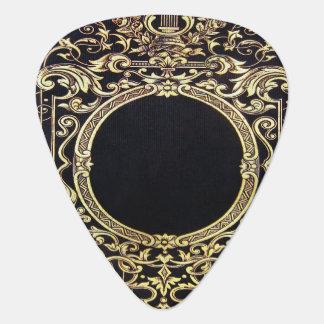 Fallnの華美な金ゴールドフレーム(モノグラムのために完成して下さい!) ギターピック