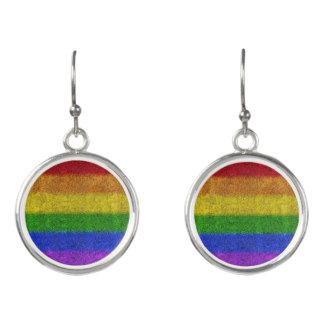 Fallnの虹のグリッターの勾配 イヤリング
