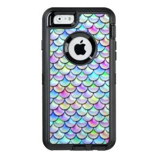 Fallnの虹の泡人魚のスケール オッターボックスディフェンダーiPhoneケース