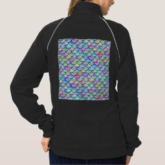 Fallnの虹の泡人魚のスケール ジャケット