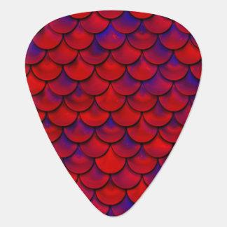Fallnの赤いおよび紫色のスケール ギターピック