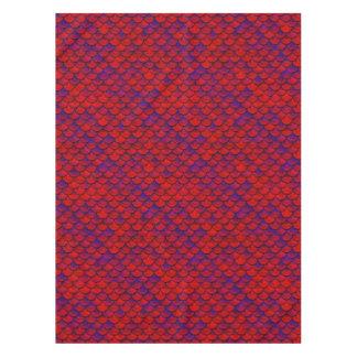 Fallnの赤いおよび紫色のスケール テーブルクロス