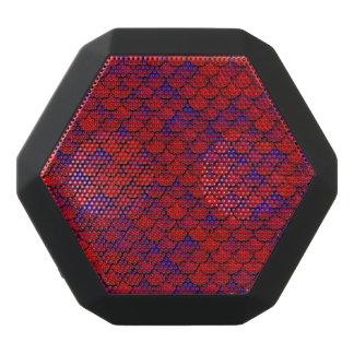 Fallnの赤いおよび紫色のスケール ブラックBluetoothスピーカー