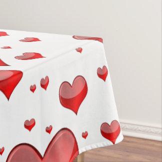 Fallnの赤いハート(背景色を選びます!) テーブルクロス