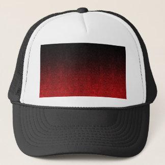 Fallnの赤く及び黒いグリッターの勾配 キャップ