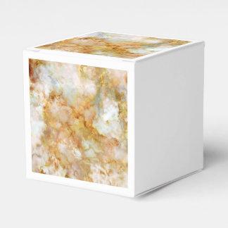 Fallnの金ゴールドによって波立てられる大理石 フェイバーボックス