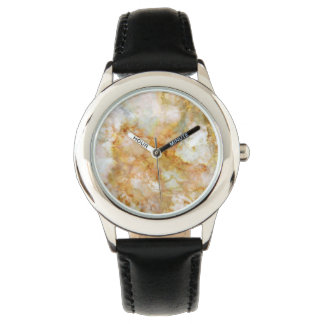 Fallnの金ゴールドによって波立てられる大理石 腕時計