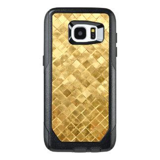 Fallnの金チェッカーボード オッターボックスSamsung Galaxy S7 Edgeケース