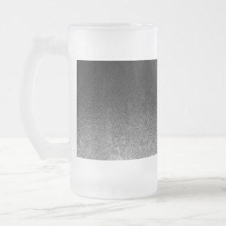 Fallnの銀及び黒いグリッターの勾配 フロストグラスビールジョッキ