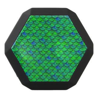 Fallnの青緑のスケール ブラックBluetoothスピーカー