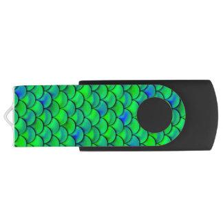 Fallnの青緑のスケール USBフラッシュドライブ