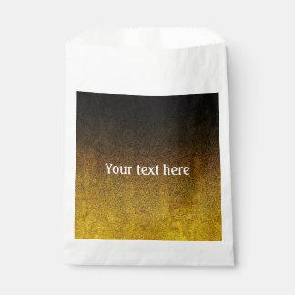 Fallnの黄色及び黒いグリッターの勾配 フェイバーバッグ