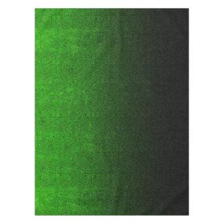 Fallnの黒い及び緑のグリッターの勾配 テーブルクロス