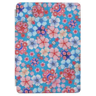Falln青い滝のように落ちる花のChirimen iPad Air カバー